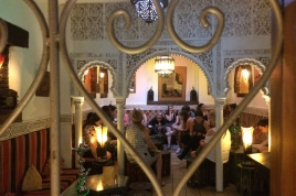 Students and Faculty in one of the Arab cafes in the Arab neighbourhood in Granada
